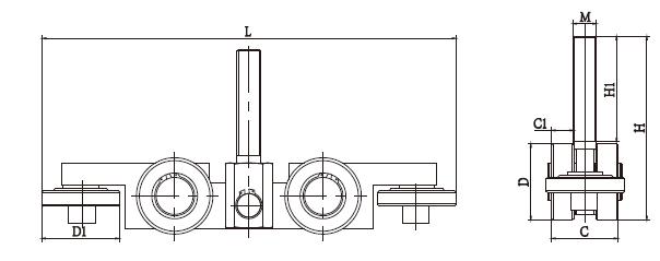 internal steel slide gate track trolley suppliers