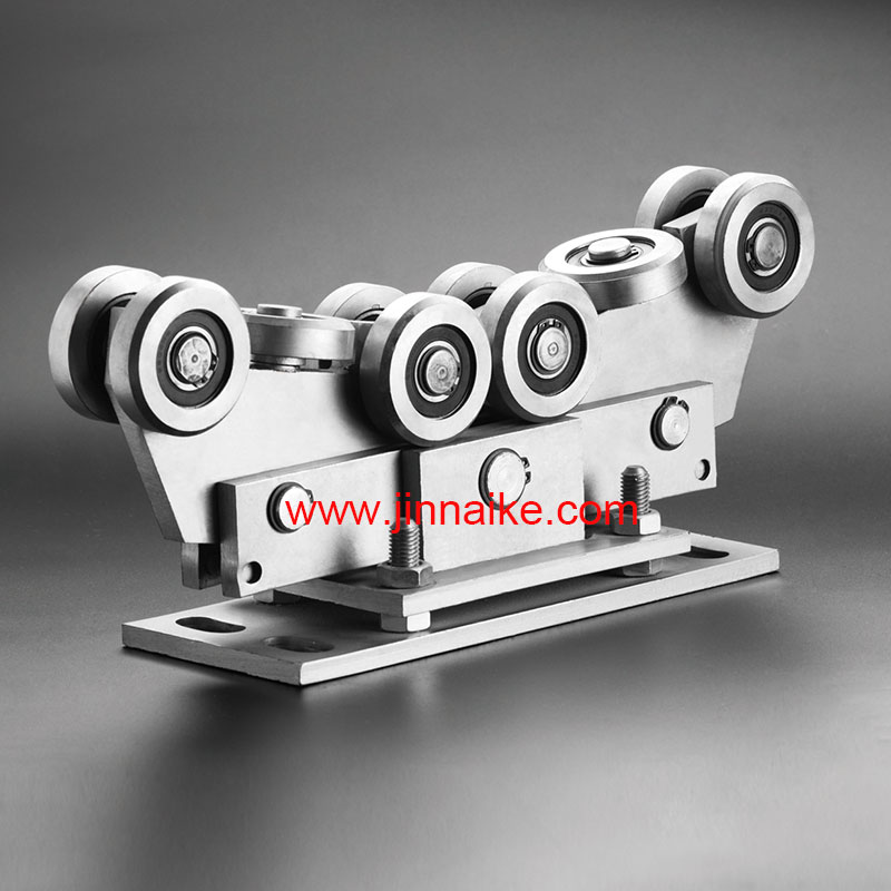 Adjustable Cantilever Gate Carriage Roller (10Wheels,For 80x80 Track)
