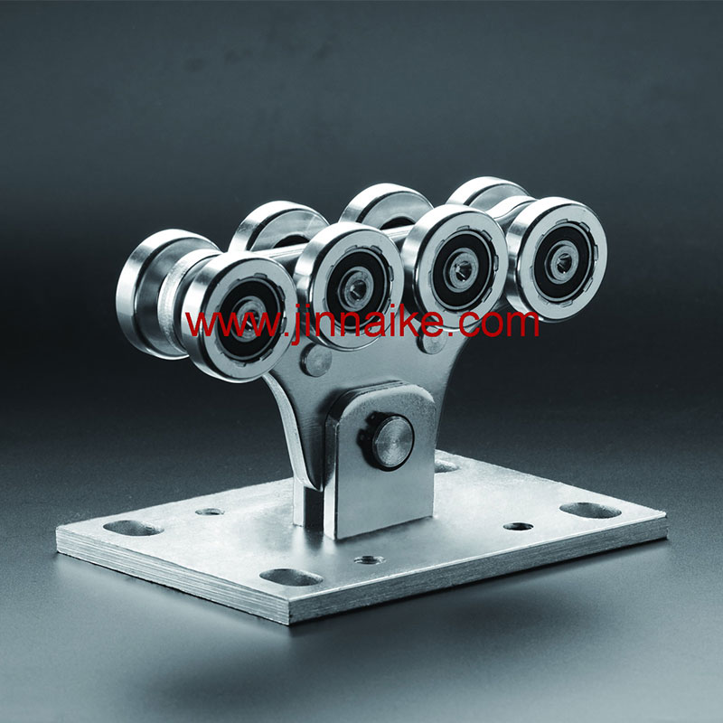Cantilever Gate Carriage Roller 8 Small Wheels Suppliers