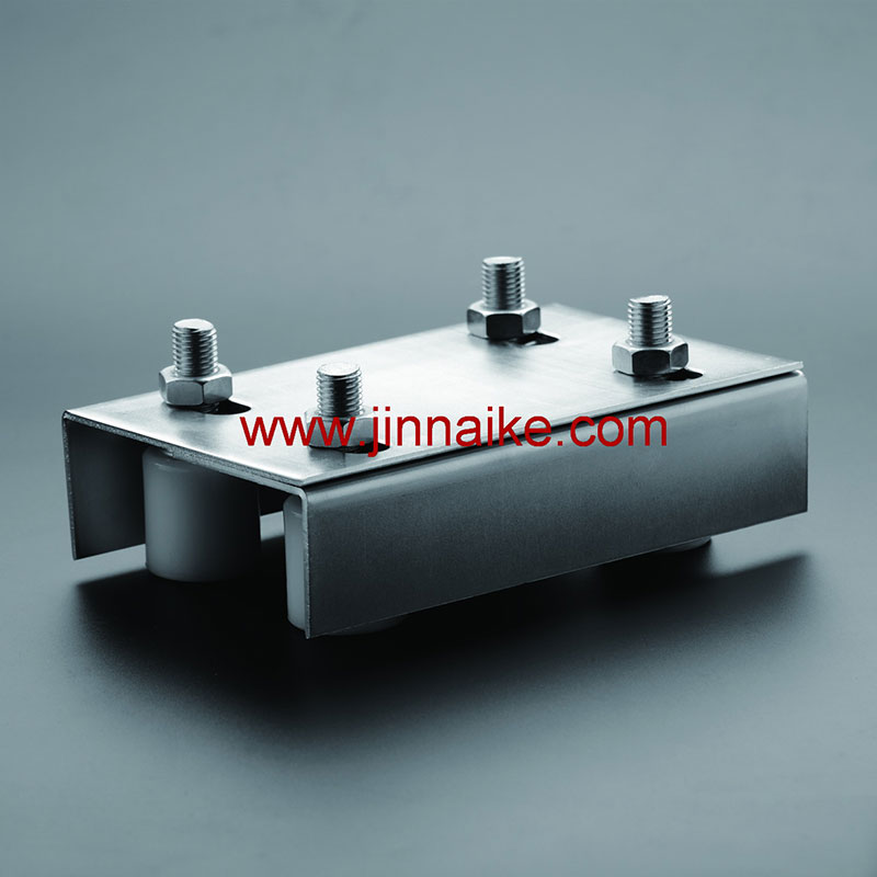 Galvanized Guide Bracket With Nylon Roller