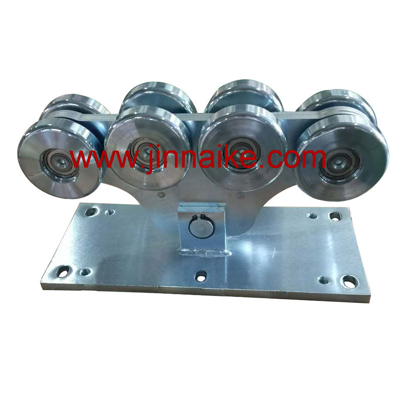 Cantilever Gate Carriage Roller 8 Large Wheels Suppliers