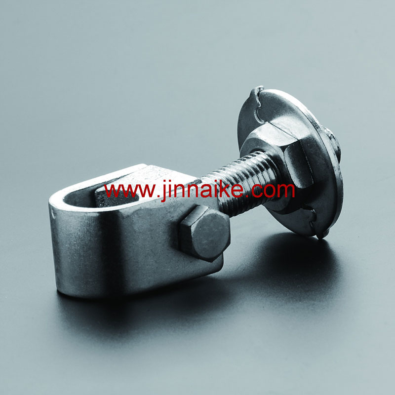 Adjustable Gate Hinge with Round Plate