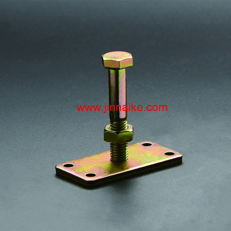 Adjustable Pin with Plate for Fastening