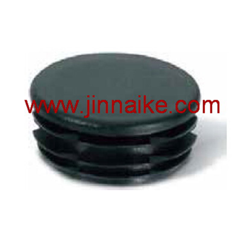 Round plastic cap for fence and rail