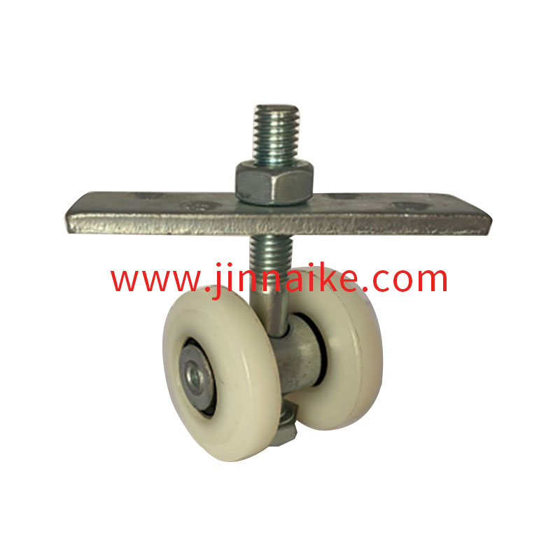 Nylon two-wheel rotating hanging wheel